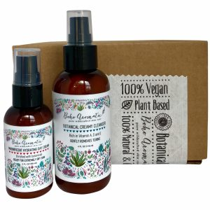 FLOWER POWER Skincare Bundle Magnificent Hydrating Day Cream & Botanical Creamy Cleanser